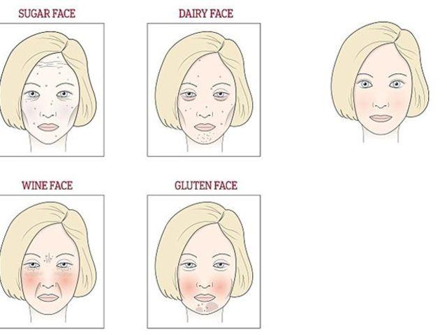 arcbőr elváltozások vörös foltokkal